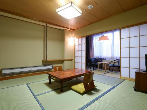 A seating area at Hotel Yudanaka