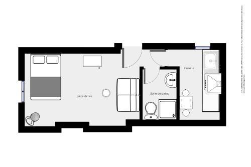 The floor plan of Les Appartements d'Edmond St Sebastien