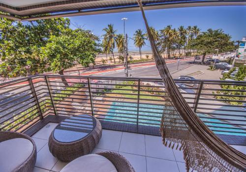 A balcony or terrace at Luxor Cabo Branco Home Service