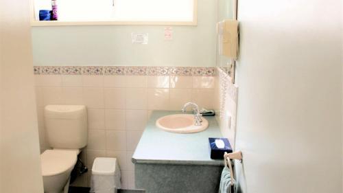 A bathroom at Ballarat Eureka Lodge Motel