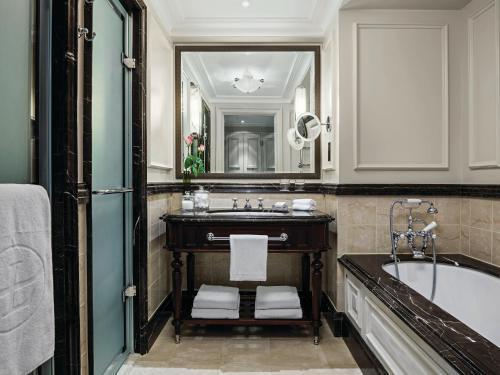 A bathroom at The Langham London