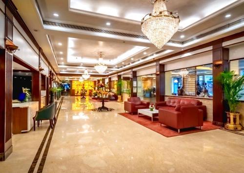 The lobby or reception area at Kenilworth Hotel, Kolkata