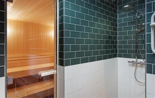 A bathroom at Olympic Hotel