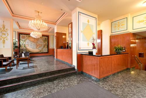 The lobby or reception area at Angleterre Hotel