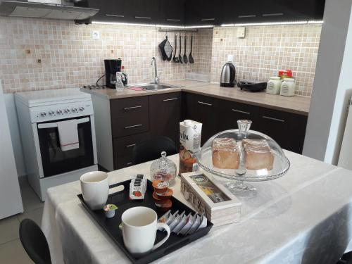 A kitchen or kitchenette at Stone house