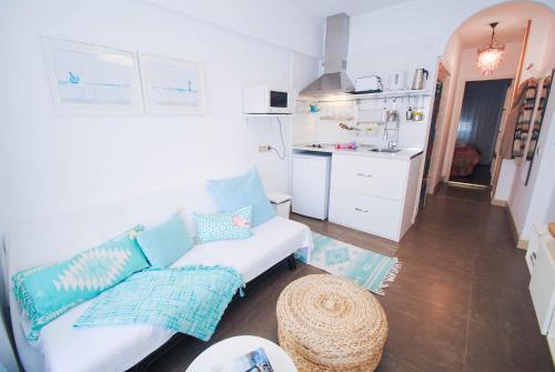 Ett kök eller pentry på Malaga Center Flat Exclusive