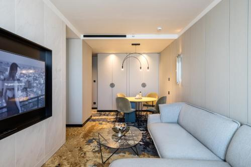 A seating area at Hotel SOFIA Barcelona, in The Unbound Collection by Hyatt