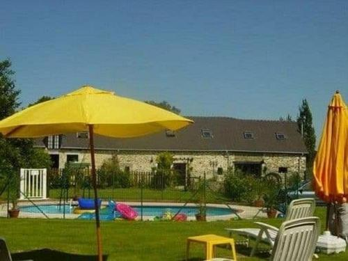 The swimming pool at or near 1 of 3 delightful gites with pool in the beautiful Mayenne countryside.
