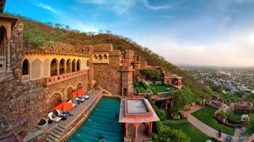 A view of the pool at Neemrana Fort-Palace or nearby