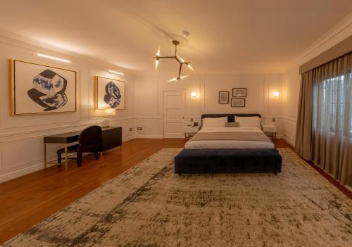 Cama o camas de una habitación en Mansión E. Borbón