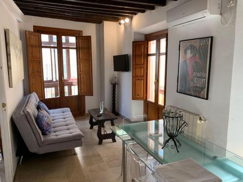 Zona de estar de Charming Apartments De Gomerez