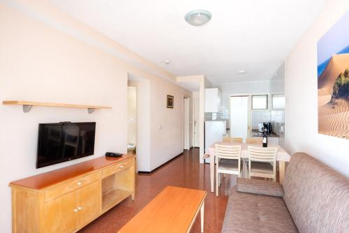 Een TV en/of entertainmentcenter bij Apartamentos las Góndolas