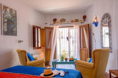 A seating area at Hotel Los Castaños