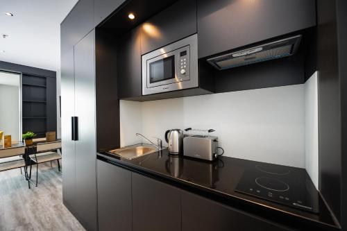 A kitchen or kitchenette at Staycity Aparthotels Venice Mestre