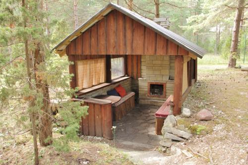 Kämpingu külastajatele saadaval grillimisvõimalused