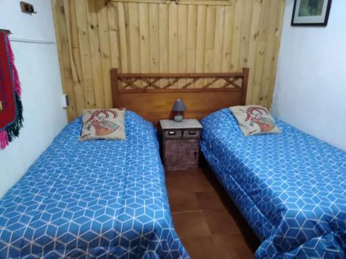 Cama o camas de una habitación en Hostal Buena Vista