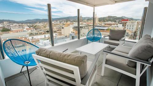 A balcony or terrace at Soho Bahía Málaga