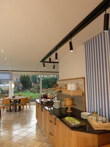 Küche/Küchenzeile in der Unterkunft Landhaus Bolzum