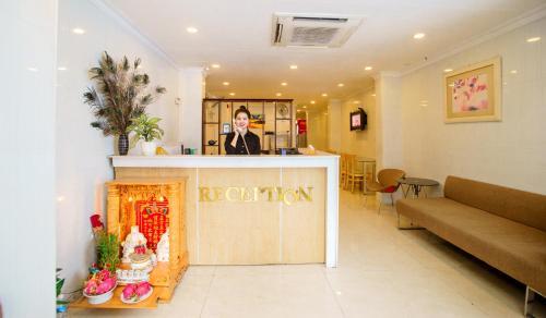 The lobby or reception area at Saigon Charm Hotel
