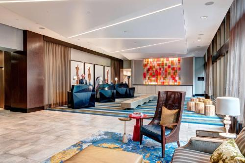 The lobby or reception area at Motif Seattle, a Destination by Hyatt Hotel