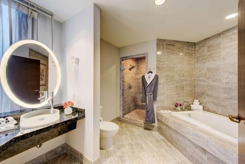 A bathroom at Motif Seattle, a Destination by Hyatt Hotel