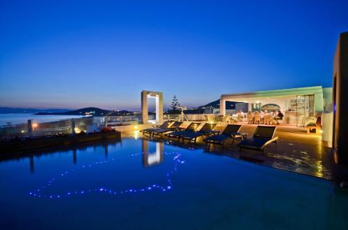 The swimming pool at or near Naxos Island Hotel