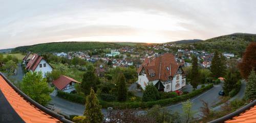 Blick auf Ferienwohnung Panorama aus der Vogelperspektive