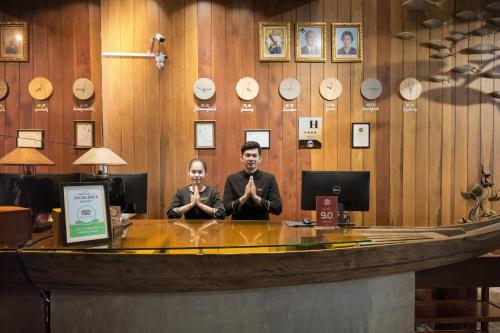 Staff members at G Mekong Hotel