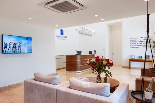 The lobby or reception area at Aphrodite Hills Golf & Spa Resort Residences – Apartments