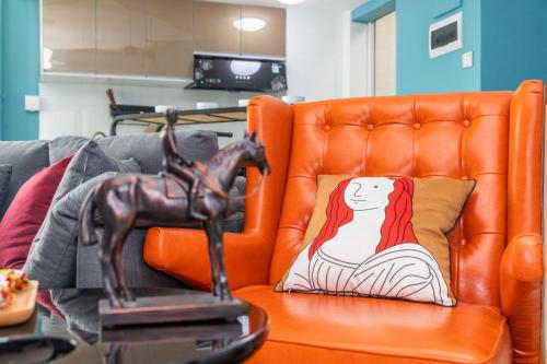 A seating area at Locals Hotels Guangzhou Tianhe·Buynow·