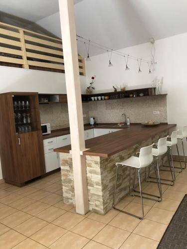 Кухня или мини-кухня в Penzion U Kočky
