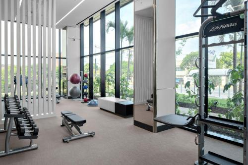 The fitness centre and/or fitness facilities at AC Hotel Kingston, Jamaica