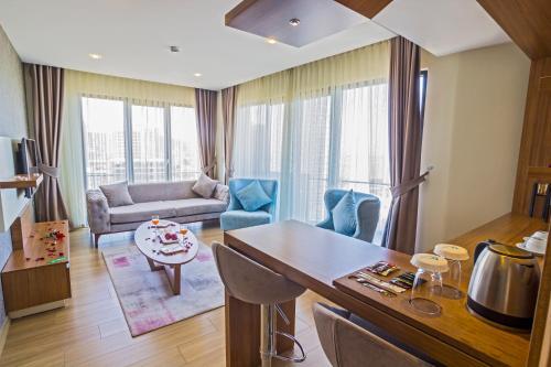 منطقة جلوس في Alesha Suite Hotel & Residence