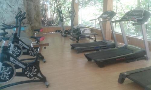 Gimnasio o instalaciones de fitness de Hotel Balneario La Hermida