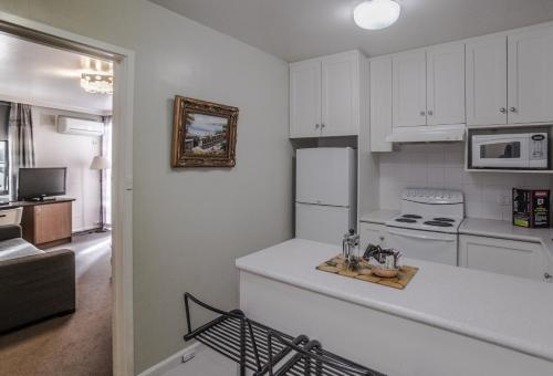 A kitchen or kitchenette at Albert Heights Serviced Apartments