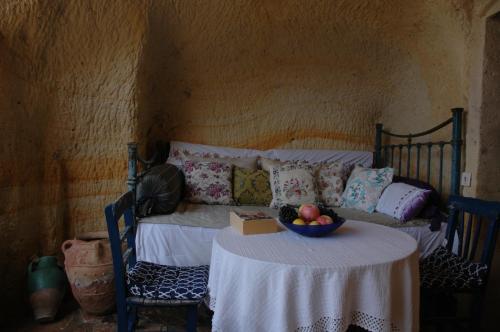 Coin salon dans l'établissement Elkep Evi Cave Hotel