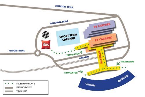 The floor plan of Pullman Brisbane Airport
