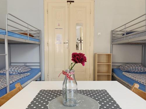 A bunk bed or bunk beds in a room at Hostel Aleje 28