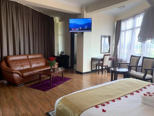 A seating area at Delano Hotel & Spa, Bahir Dar