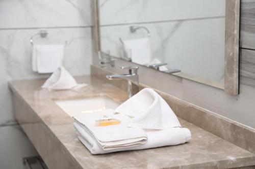 A bathroom at Hotel Moon Palace Kolwezi