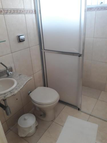 A bathroom at Pousada Canto da Ilha