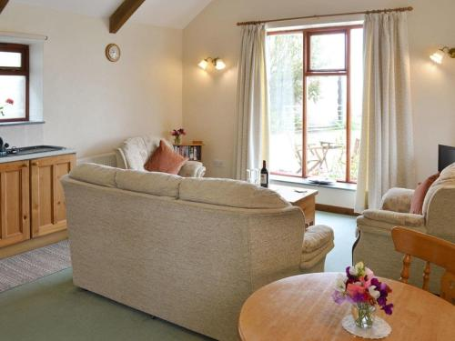 A seating area at Ash Tree Cottage