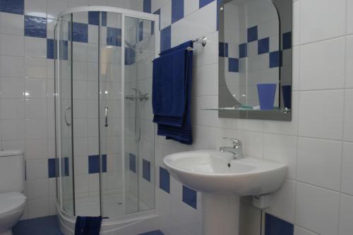 Ванная комната в Хинотель