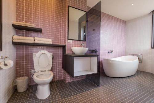 A bathroom at Peekaboo