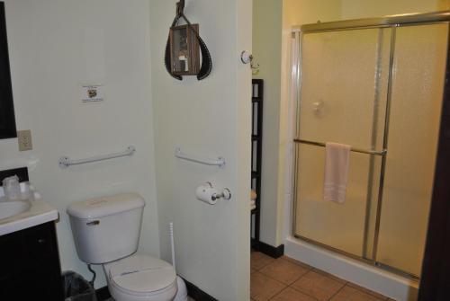 A bathroom at Aspen Inn