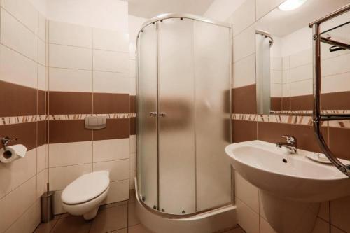 Salle de bains dans l'établissement Zielony Ogród