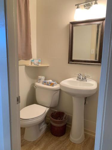 A bathroom at Kauai Palms Hotel