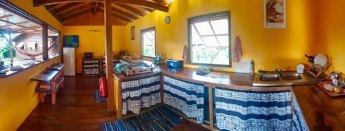 A cozinha ou cozinha compacta de PainaPaopao Backpacker