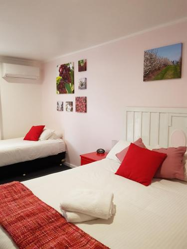 A bed or beds in a room at Town House Motor Inn Young