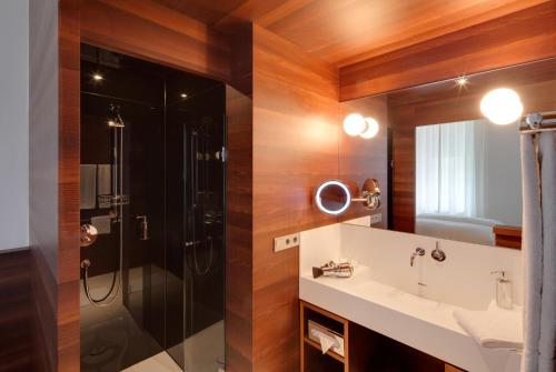 Ein Badezimmer in der Unterkunft Hotel Central